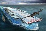 An Aircraft Carrier made fromice